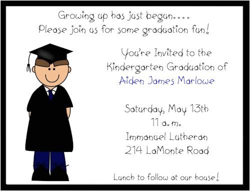 prekindergarten graduation invitation