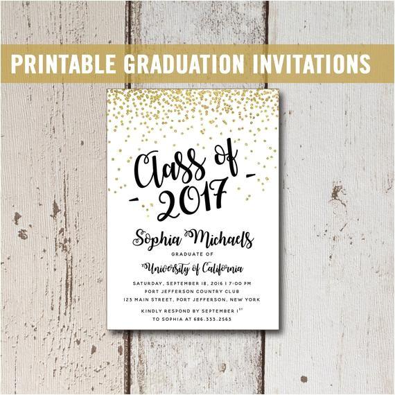 college graduation invitation printable