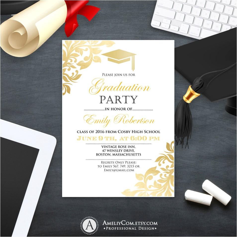 graduation party invitation template