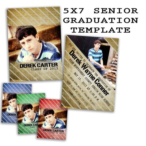 psd senior graduation invitation card