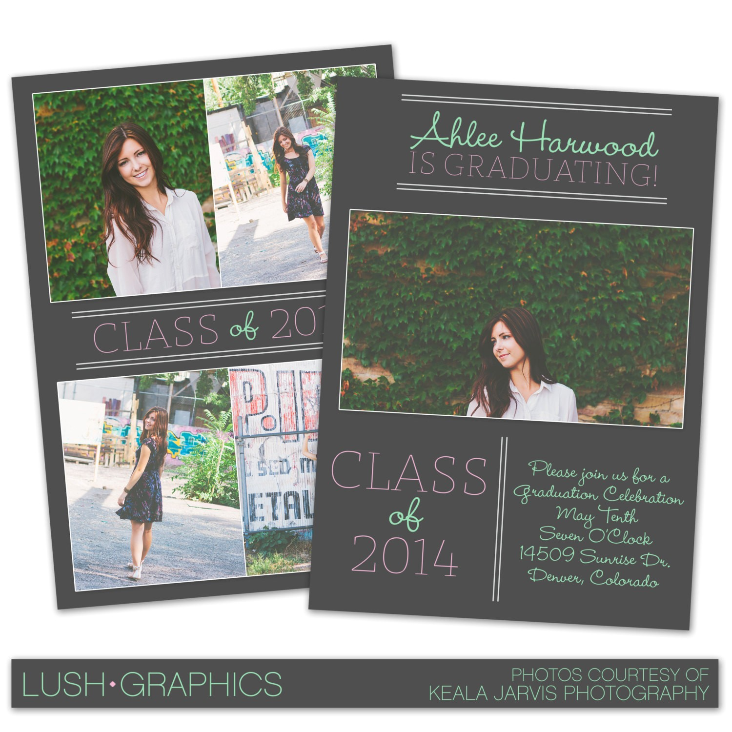 psd photoshop template senior graduation