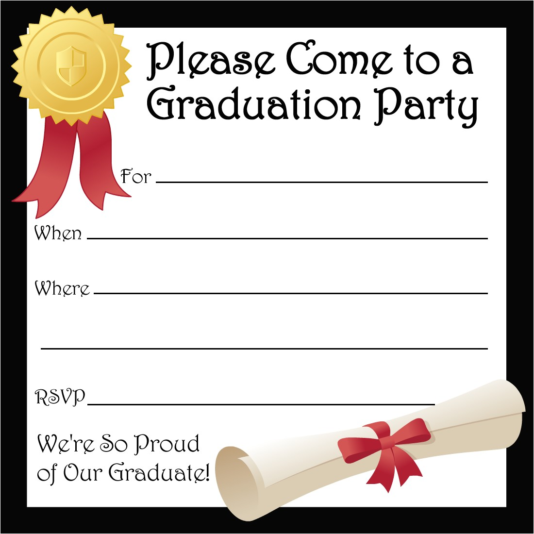 Graduation Invitations Free Printable Free Printable Party Invitations Free Invite for A