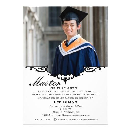 graduation photo mantel invitation 161150855355265697