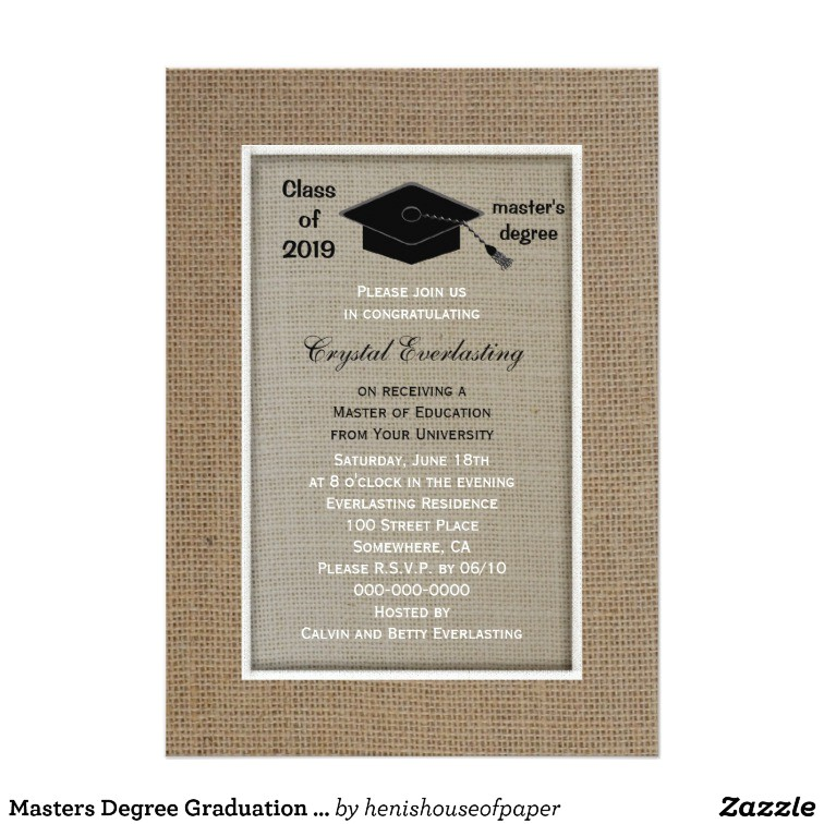 masters degree graduation invitation 256316434155009135