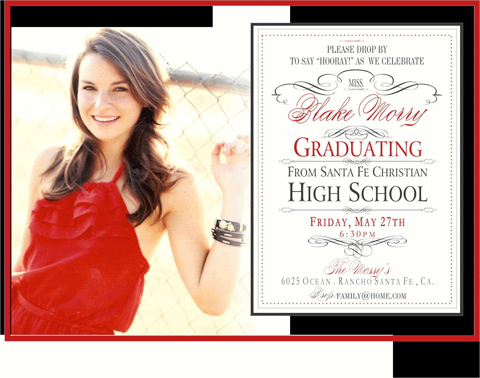 whimsical graduation party invite