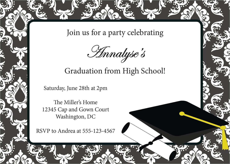 graduation invitation many colors