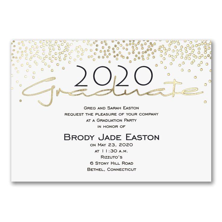 graduation party invitations 2018