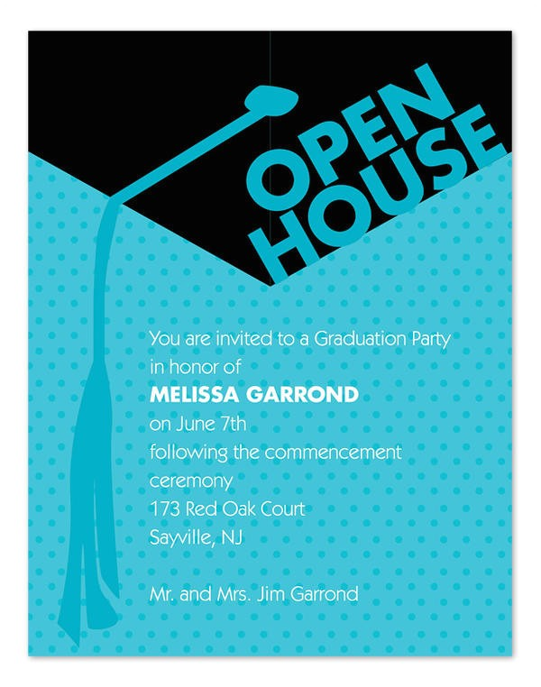 Graduation Open House Invitations 45 Graduation Invitation Designs Free Premium Templates