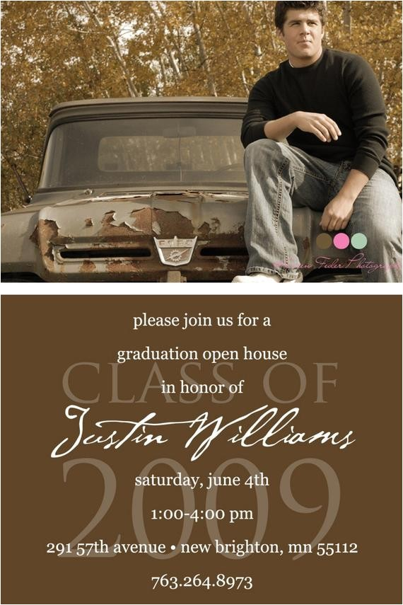 simply classic custom photo graduation open