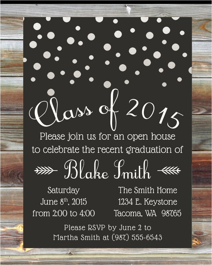 graduation open houses