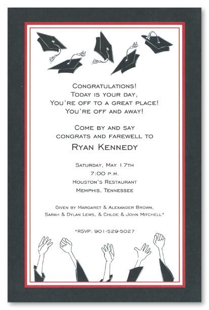 graduation open house invitation templates