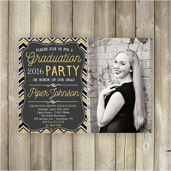graduation party invitation 2016