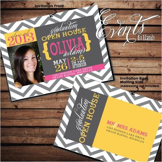 2014 graduation open house invitation