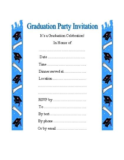 graduation invitations cliparts