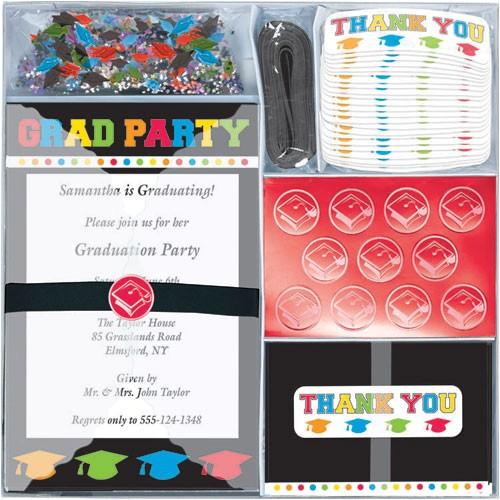 deluxe graduation invitation kit