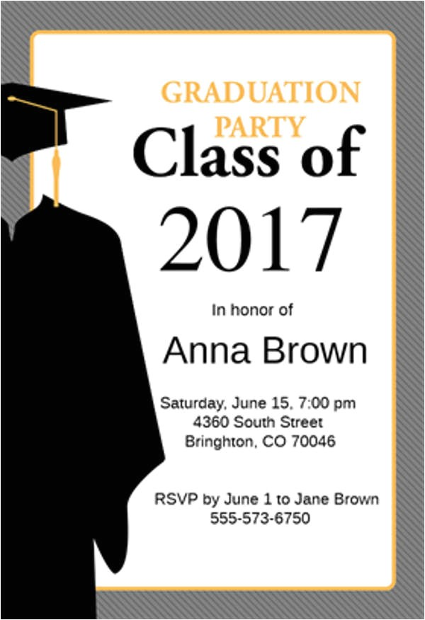 graduation menu template