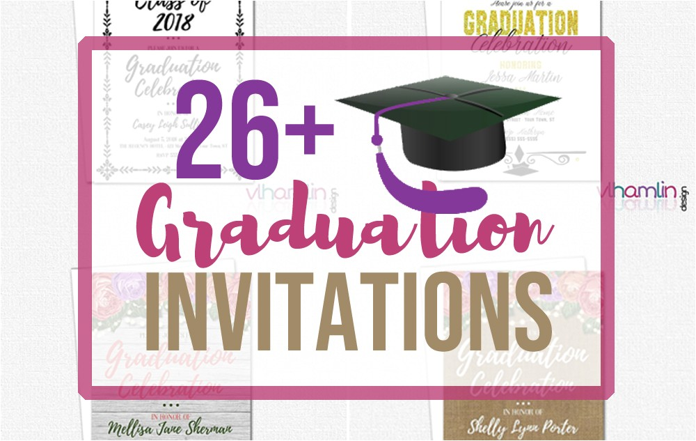 26 graduation party invitations high school college