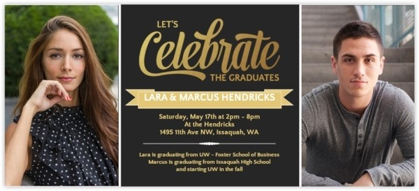graduation party invitations for two 031436768