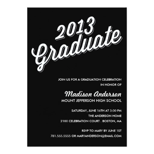 retro 2013 graduation party invitation 161886826611003524