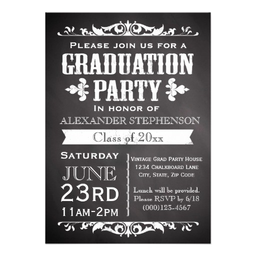 rustic slate graduation party invitation 161313736725582950
