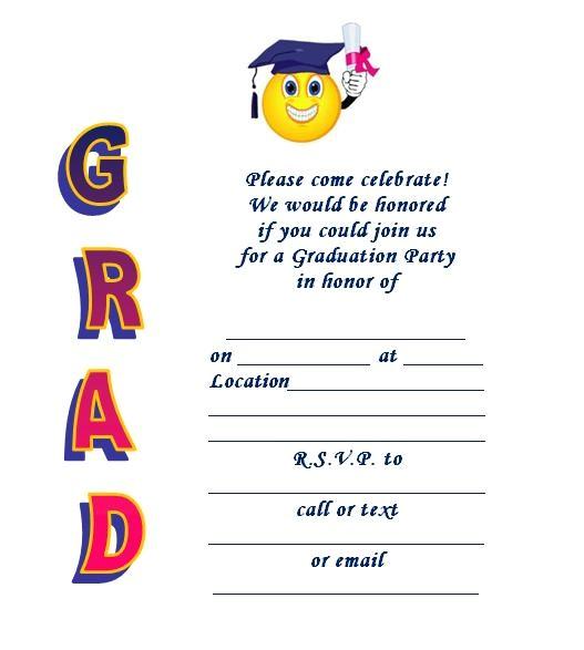 printable graduation invite