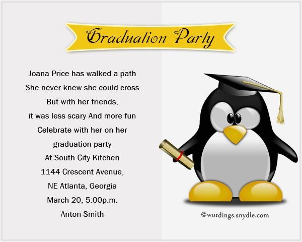 Graduation Party Invitations Wording Examples Graduation Party Invitation Wording Wordings and Messages
