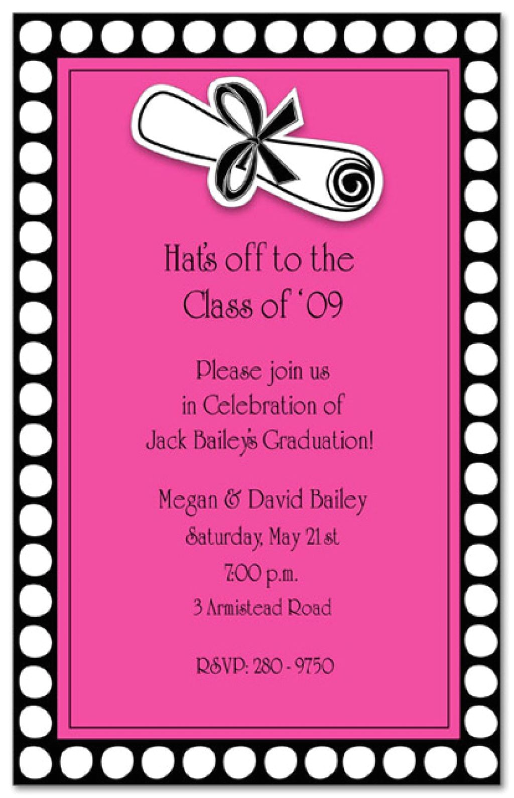 sample wording for graduation party invitations abou