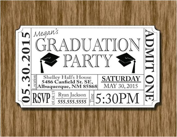 graduation party invitation ticket