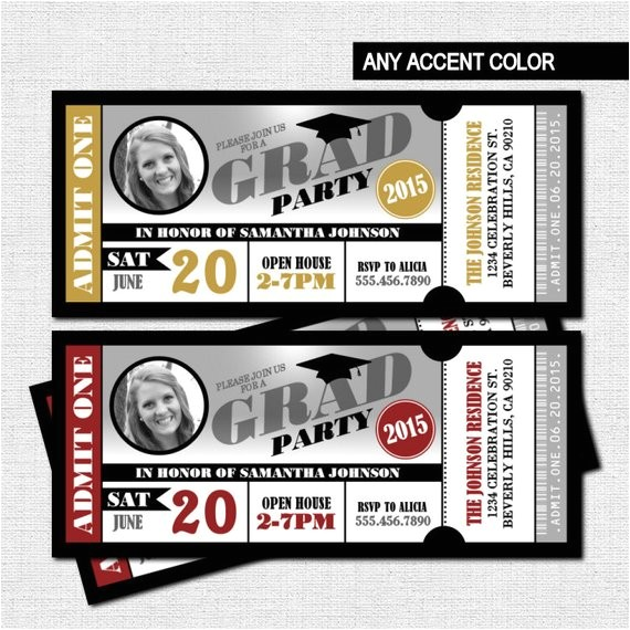 graduation party ticket invitations