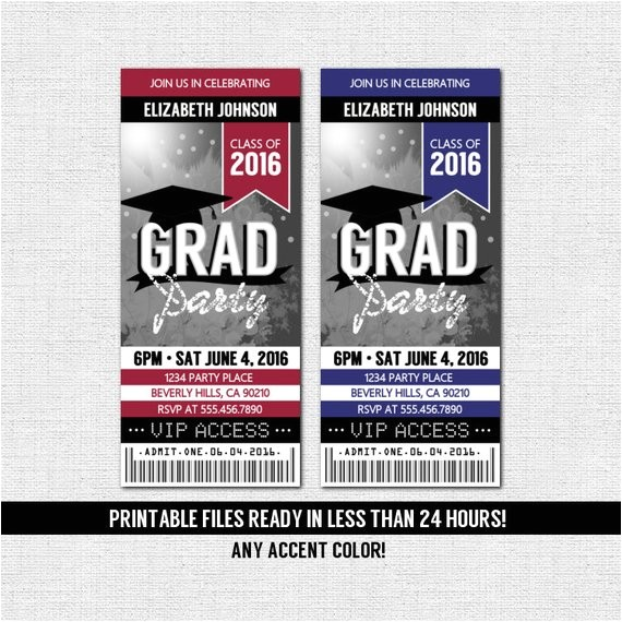 graduation ticket invitation grad party