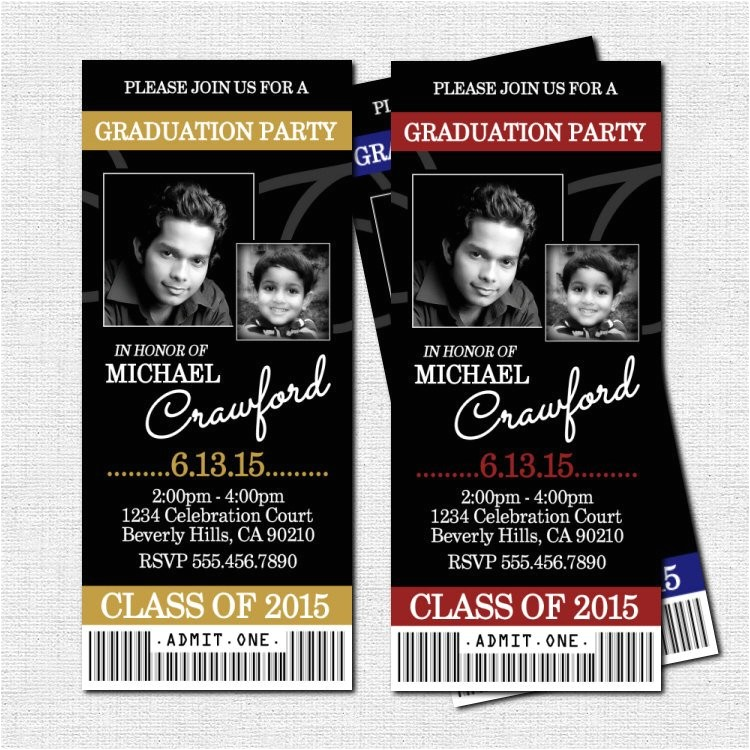 graduation party ticket invitations or