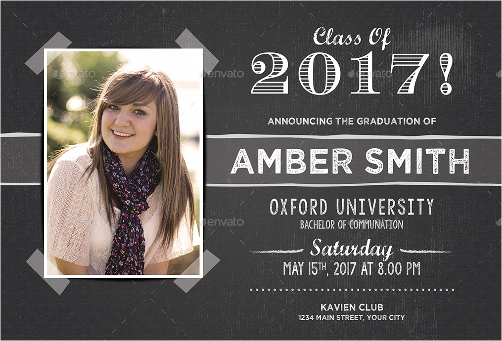 Graduation Postcards Invitations Graduation Invitation by themedevisers Graphicriver