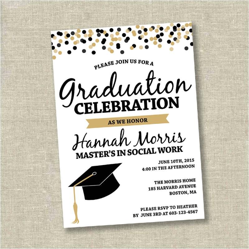 graduation invitation college graduation