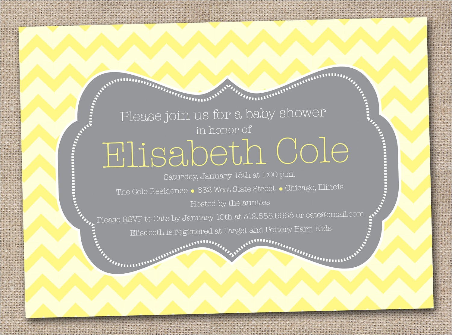 Grey and Yellow Baby Shower Invites Yellow and Gray Baby Shower Invitations Baby Shower for