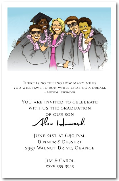 Group Graduation Party Invitations Fun Group Graduation Party Invitation Graduation Invitation