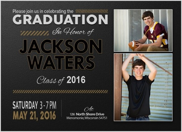 invitations for graduation template
