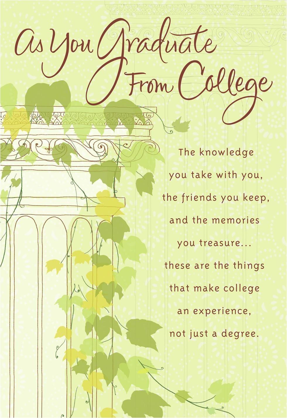 ivy column college graduation card 399wng4014