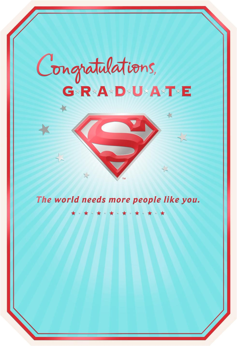 superman s shield graduation card 429gr1752