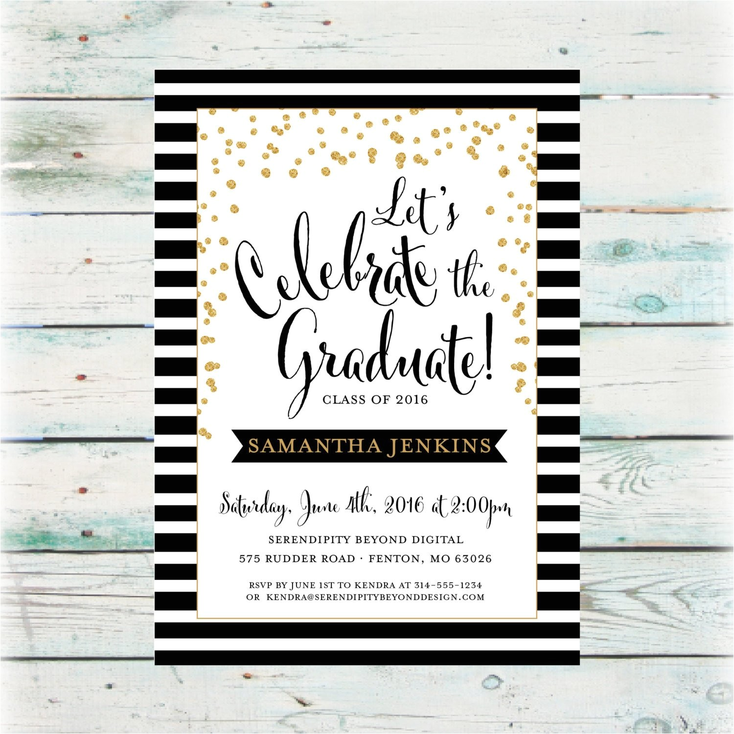 classic graduation party invitation