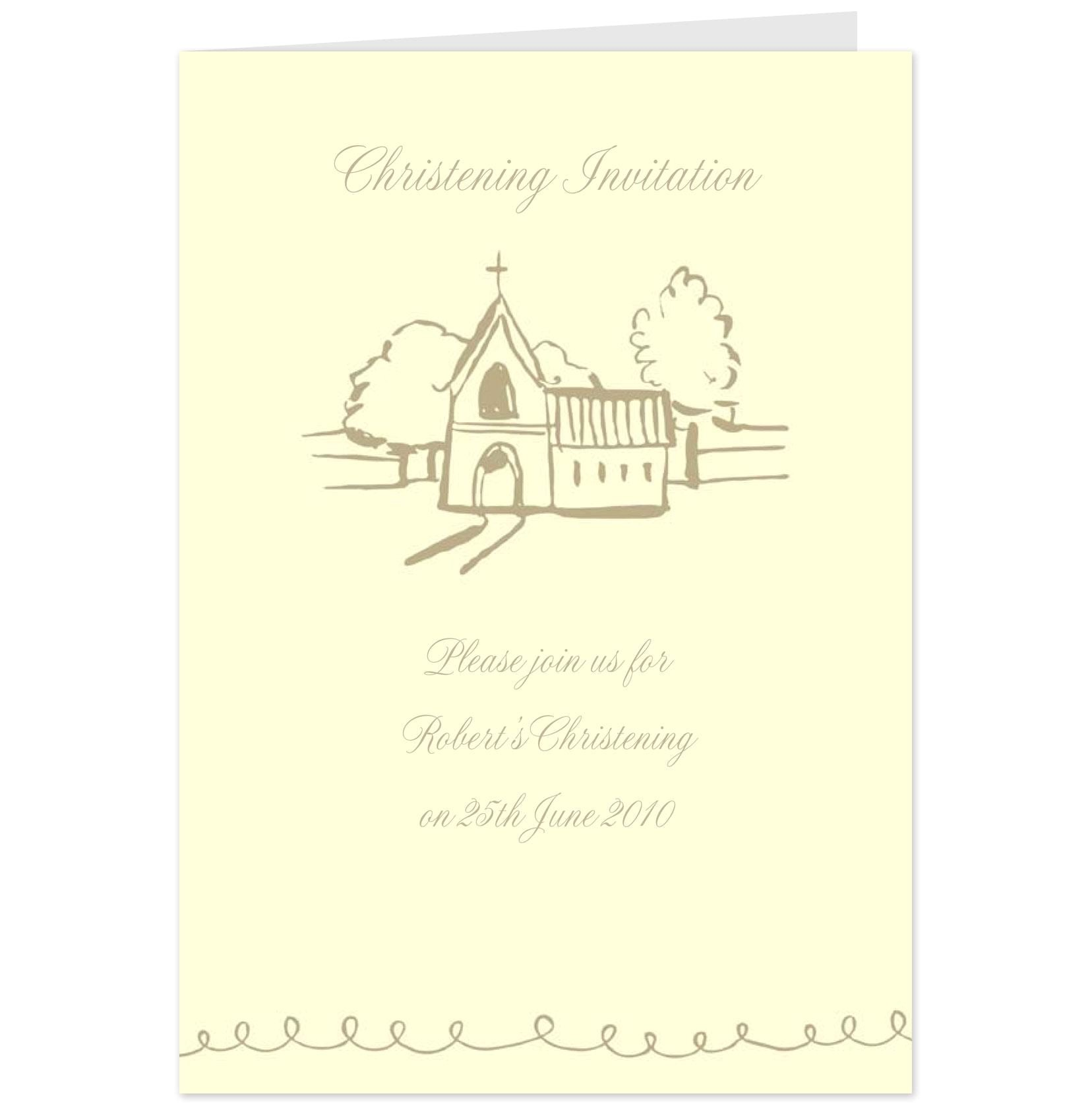hallmark christening invitation