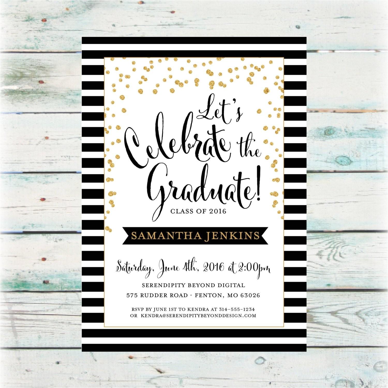 classic graduation party invitation