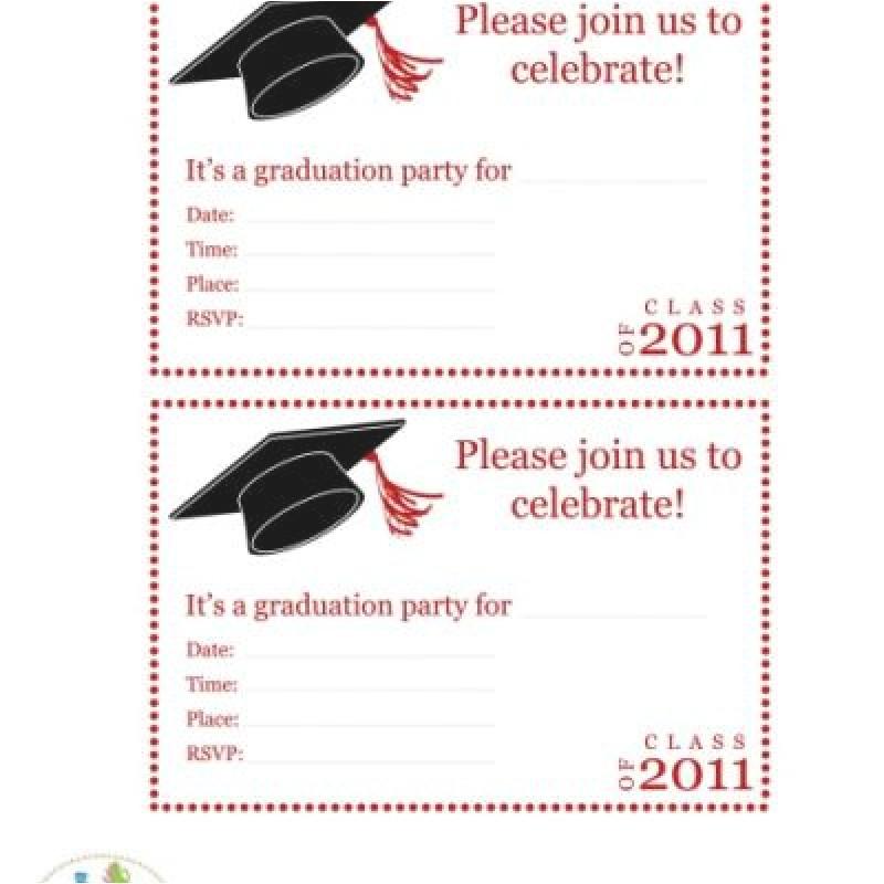 free hallmark printable graduation party invitation