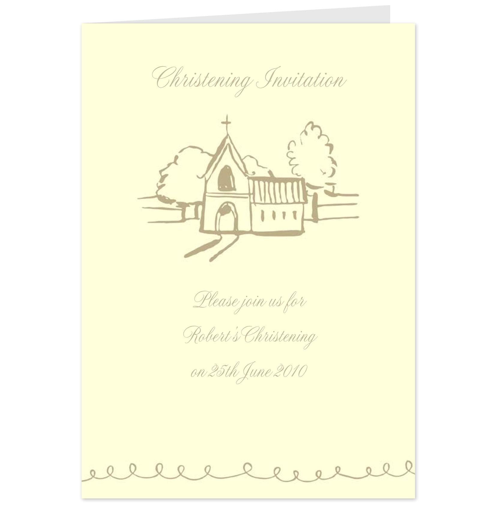 hallmark christening invitation
