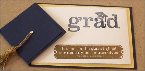 handmade graduation card or invitation