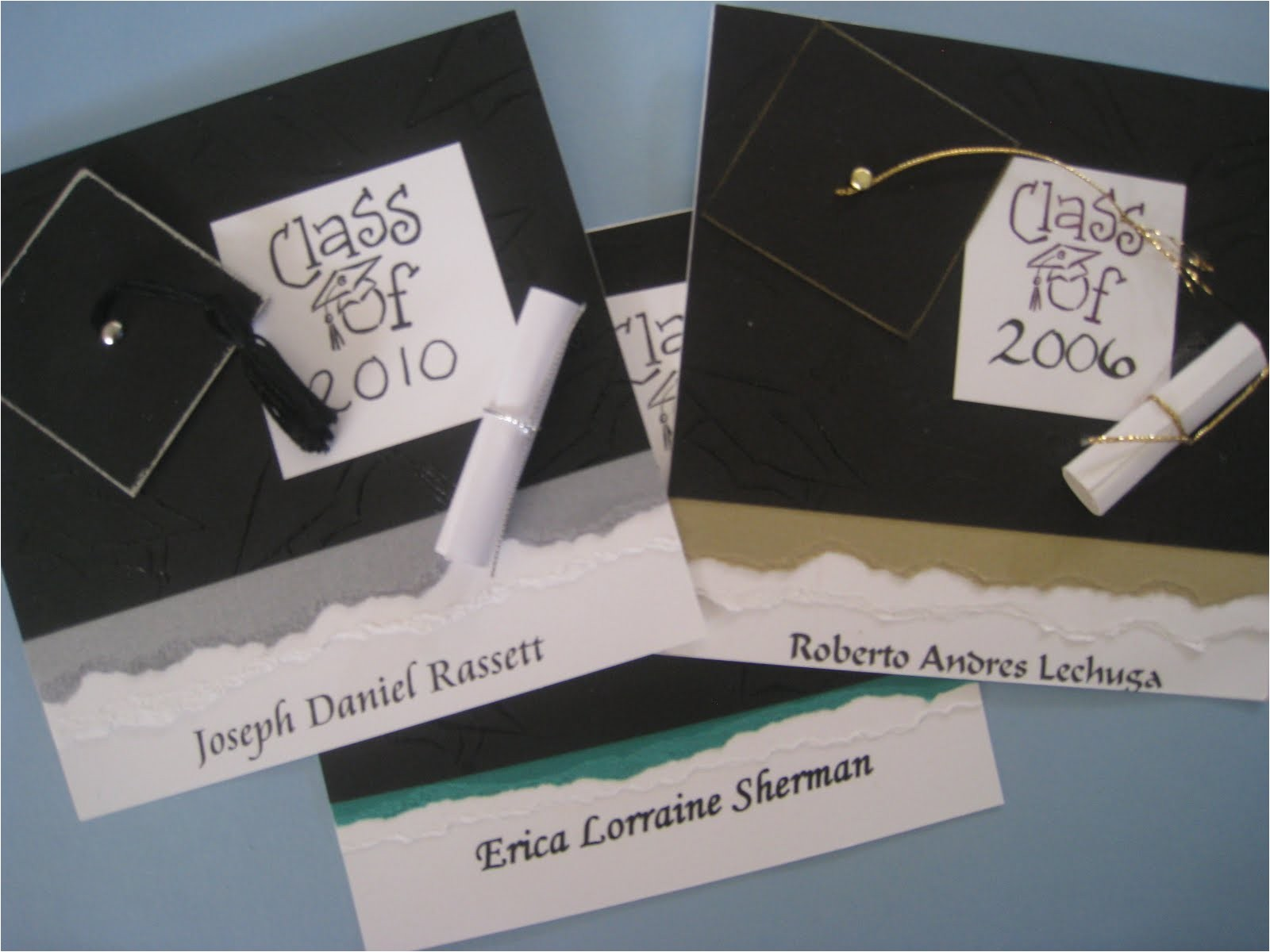 Handmade Graduation Invitations Maria 39 S Paper Gift Exchange Graduation Announcements