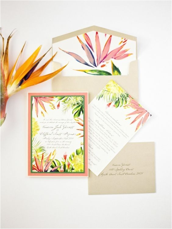 tropical wedding theme trends