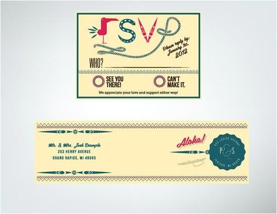 letterpress hawaiian wedding invitations design by joshua kulchar