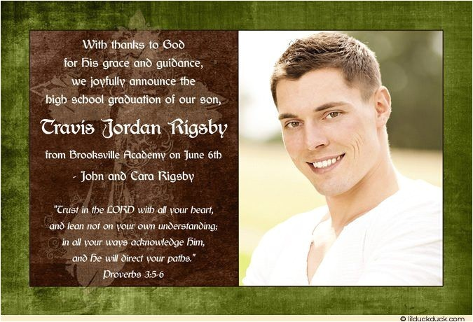 christian graduation announcement