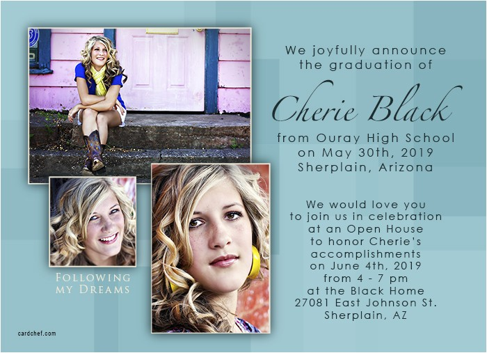 graduation announcement and invitation wording ideas