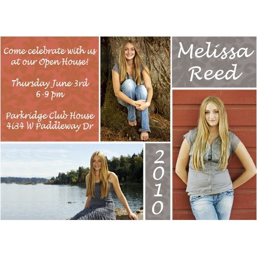 High School Graduation Open House Invitations Damask Open House Graduation Announcement High School